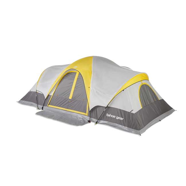TGT-MANITOBA-14-C Tahoe Gear Manitoba 14-Person Family Outdoor Camping Tent w/ Rainfly, Orange 1