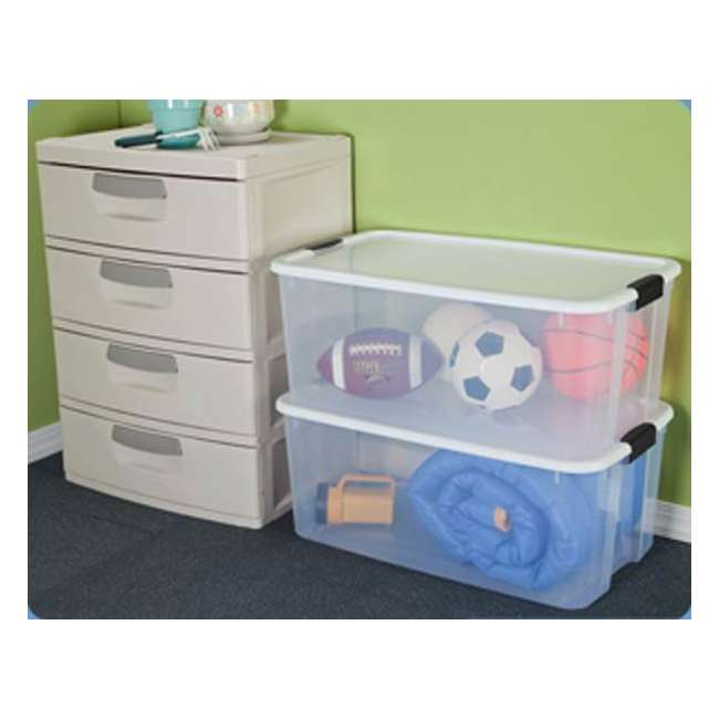 4 X 19909804-U-A Sterilite 116 Quart Latching Storage Tote Box Containers Clear (Open Box)(4Pack) 2