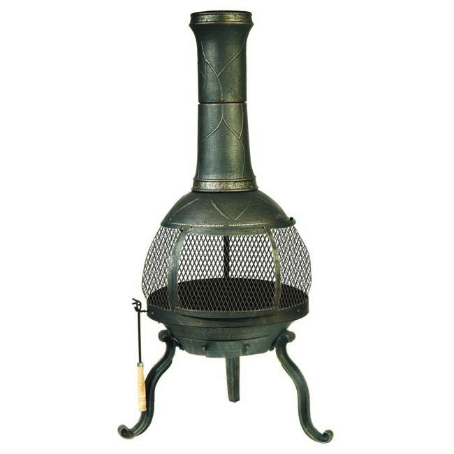 30199 Kay Home Products 30199 Sonora Outdoor Wood Burning Metal Chimenea Fireplace 1