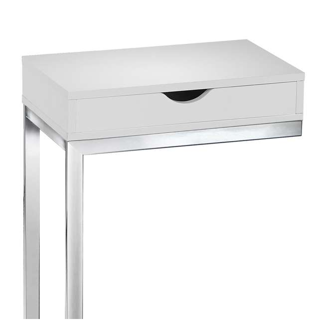 MS-VM3031-U-A Monarch Specialties Accent End Table with Drawer, White (Open Box) (2 Pack) 4