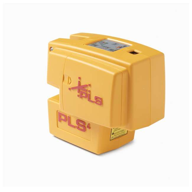 PLS-60574 Pacific Laser Systems PLS 4 Red Cross Line Laser Level w/ Plumb, Bob & Level