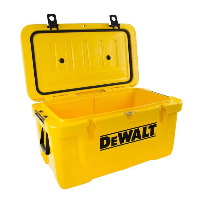 DXC65QT DeWalt 65 Quart Insulated Lunch Box Drink Cooler Roto Molded Portable, Yellow
