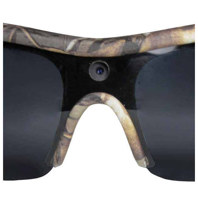MCG-13039 Moultrie Hunting Fishing Camo Glasses w/ Built-in Video Camera | MCA-13039 4