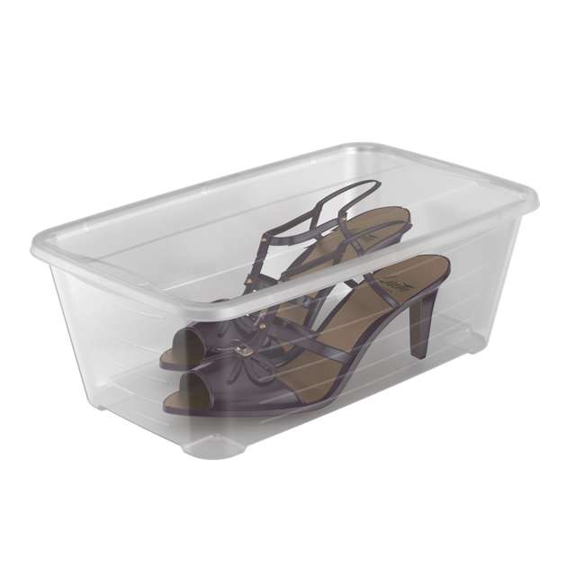 9 x SHB-10-U-A 10-Pk Life Story 5.7L Shoe & Closet Storage Container, Clear (Open Box) (9 Pack) 5
