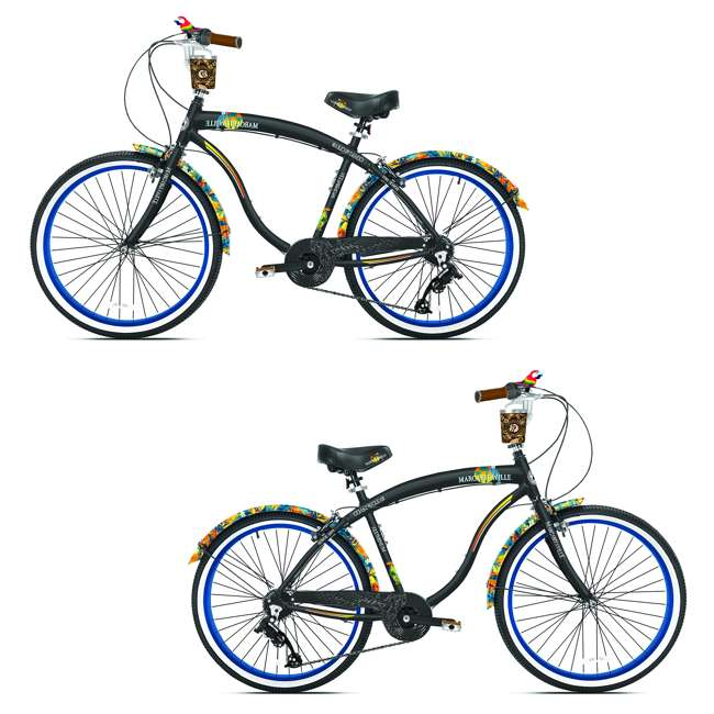 82674 Cruiser Men's Cruiser Bike with Sturdy Handles and Alloy Frame (2 Pack)
