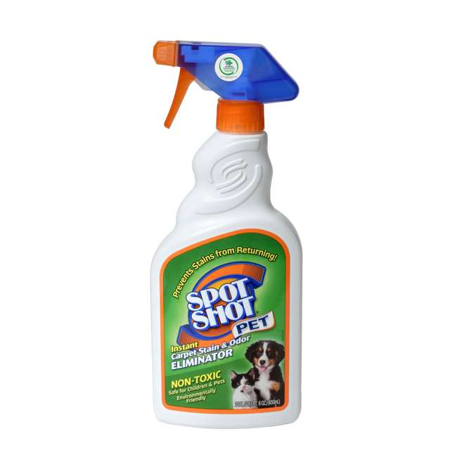WD-099126 Spot Shot Pet Trigger Spray Non Toxic Carpet Stain and Odor Remover, 22 Ounces