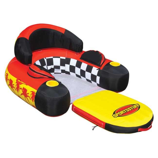 6 x 54-1602 Sportsstuff Siesta Lounge Inflatable Float Raft Lounger (6 Pack) 1