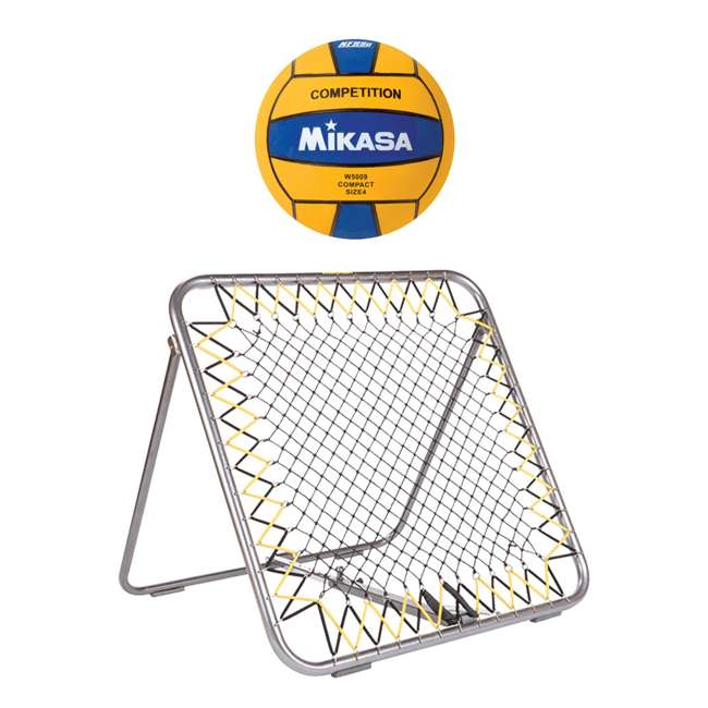 WSM + W5009BLU Mikasa WSM Water Polo Shot Maker Rebounder w/ Size 4 Mini Ball