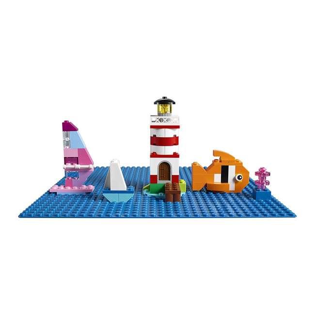 3 x 6213433 32 x 32 LEGO Baseplate, Blue (3 Pack) 2