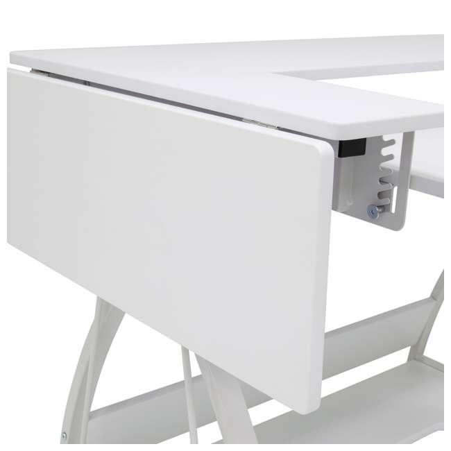 STDN-38017 Sew Ready STDN-38017 Venus Sewing Machine Craft Hobby Table Computer Desk, White 10