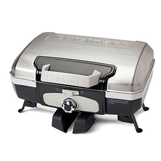 CGG-180TS Petite Gourmet Gas-Fueled Outdoor Grill, Silver 2