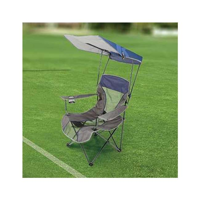80188 Kelsyus Premium Portable Camping Folding Lawn Chair w/ Canopy, Navy | Open Box