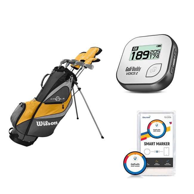 WGGC4370L + GB7-VOICE2-GREY + PGSMGps Wilson Men's Golf Club Set + Golf Buddy GPS Range Finder + Golfwith Smart Marker