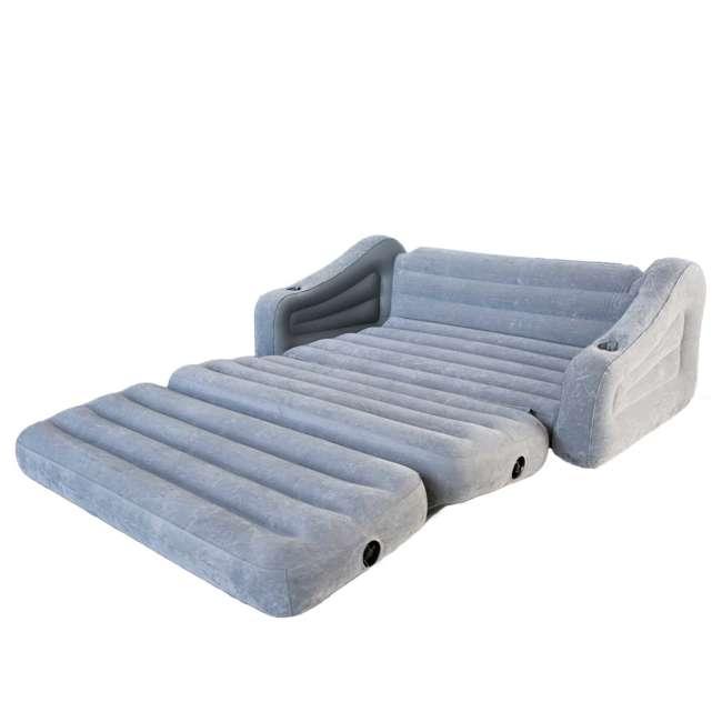 68566VM + 66639E Intex Queen Inflatable Pull Out Sofa w/ Electric Air Pump 3