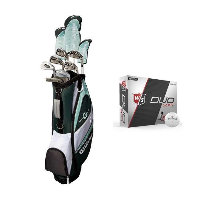 WGGC43800 + WGWP40000 Wilson Profile XLS Women's RH Graphite Golf Club Bag Set & Balls