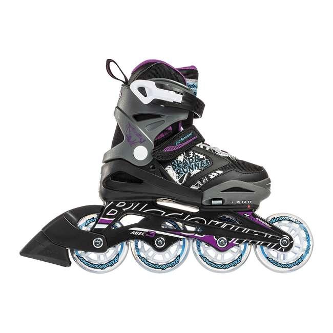 0T612300N41-11-1 Rollerblade Bladerunner Phoenix Girls Adjustable Skates, 11 thru 1, Black/Purple 3