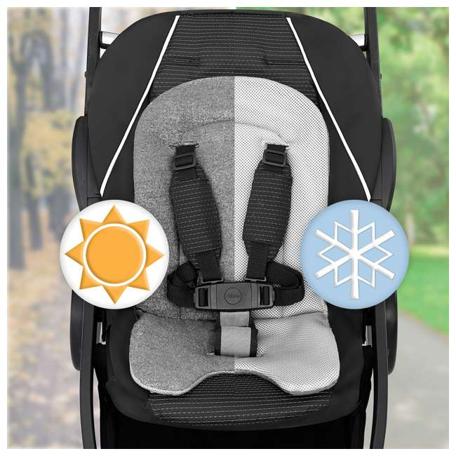 CHI-0707978133 Chicco BravoFor2 LE Standing/Sitting Double Stroller, Eucalyptus 3