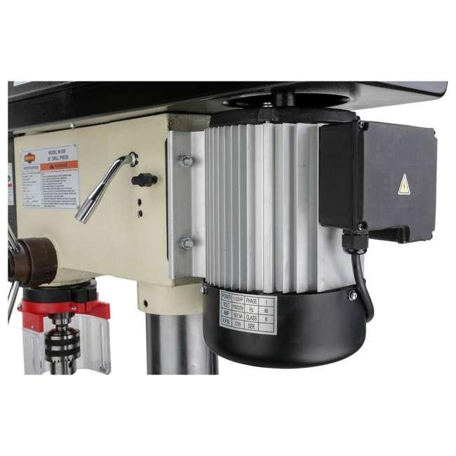M1039 Shop Fox M1039 20 Inch 1.5 Horsepower Floor Drill Press with Work Light, White 8