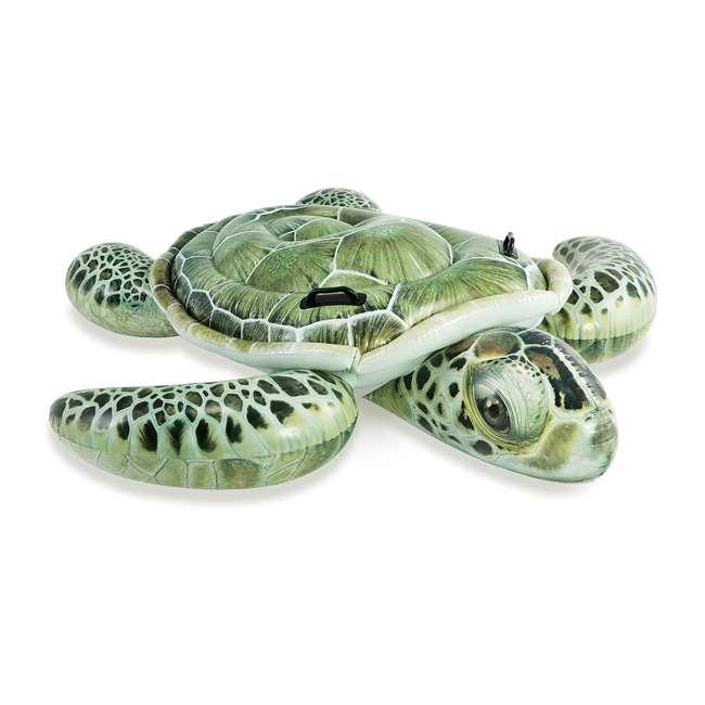 57555EP-U-B Intex Realistic Sea Turtle Inflatable Ride-On Pool Float with Handles (Used)