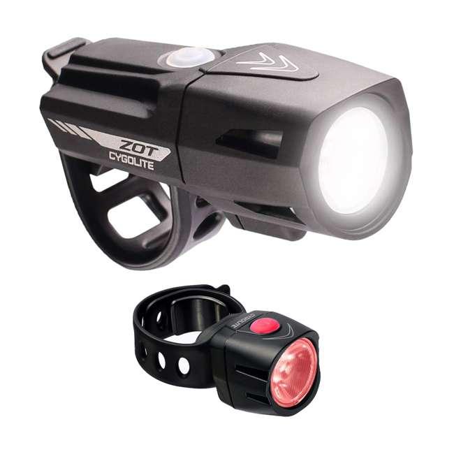 ZOT-250-50 Cygolite Zot 250 Lumen Headlight & TL 50 Lumen TailLight Rechargeable Combo Set