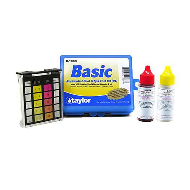 K2006C + K1000 Taylor K-2006C Complete Pool Test Kit w/ Additional Kit 1