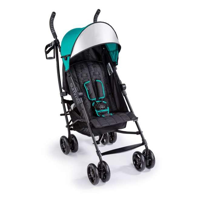 32693 Summer Infant 3Dlite Lightweight Folding Convenience Toddler Baby Stroller, Teal