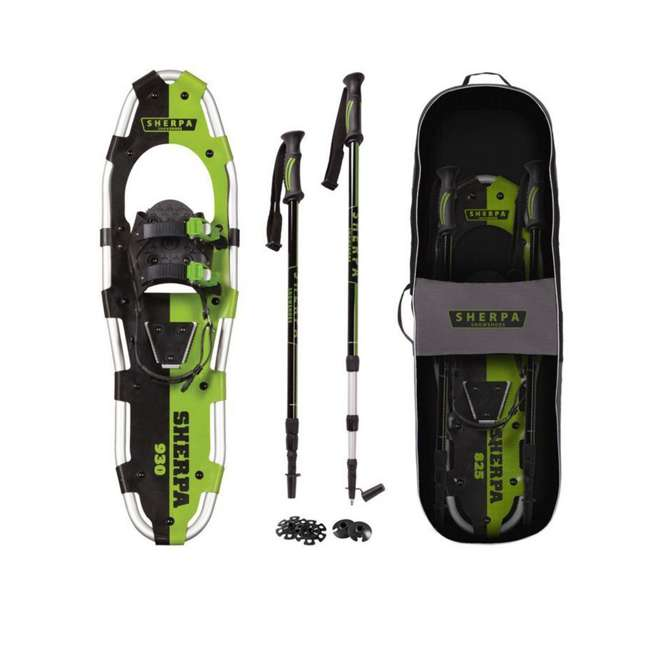 "80-5017K Yukon Charlie's Sherpa 9"" x 30"" Hiking Snowshoe Kit, Green"