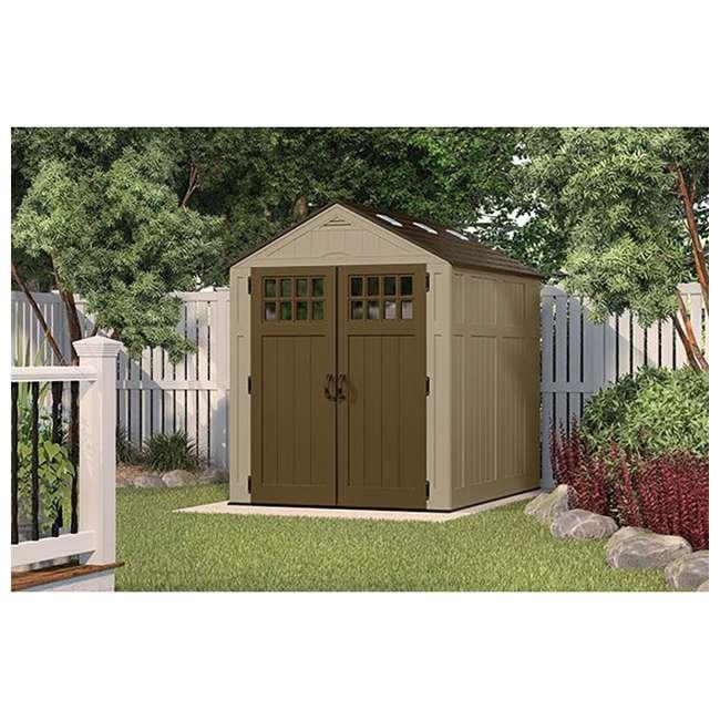 BMS6810D Suncast Everett 6 x 8-Foot Resin Outdoor Garden Tool Storage Shed 2