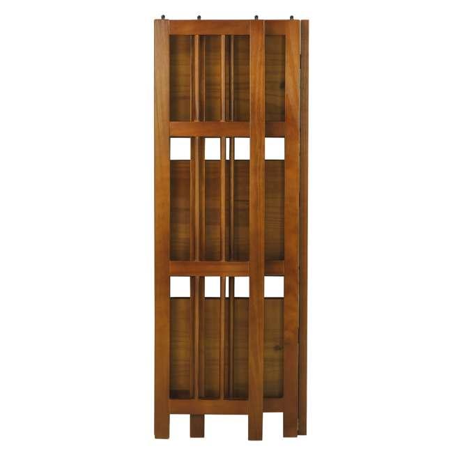 331-35 Casual Home 3 Shelf 14 Inch Folding Office Wood Furniture Bookcase, Honey Oak 3