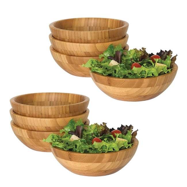 LP-8203-4pack Lipper International Bamboo Small Salad Bowls (8 Pack)
