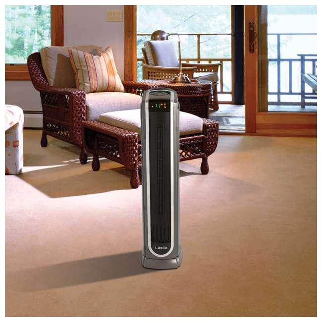 LKO-5572-TN Lasko 5572 Portable Electric 1500W Room Oscillating Ceramic Tower Space Heater 4