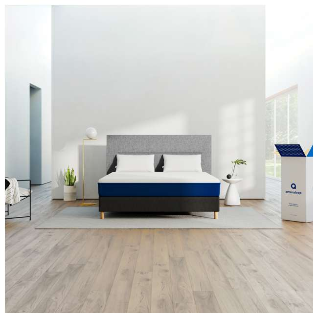AS1-T Amerisleep AS1 Back and Stomach Sleeper Firm Memory Foam Bed Mattress, Twin 4