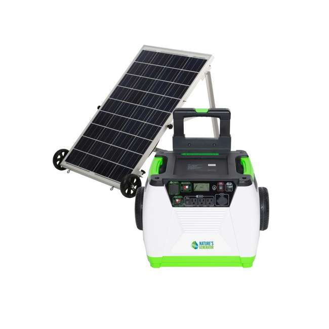 GXNGAU Nature's Generator GXNGAU Gold System Portable Generator with Solar Power Panel