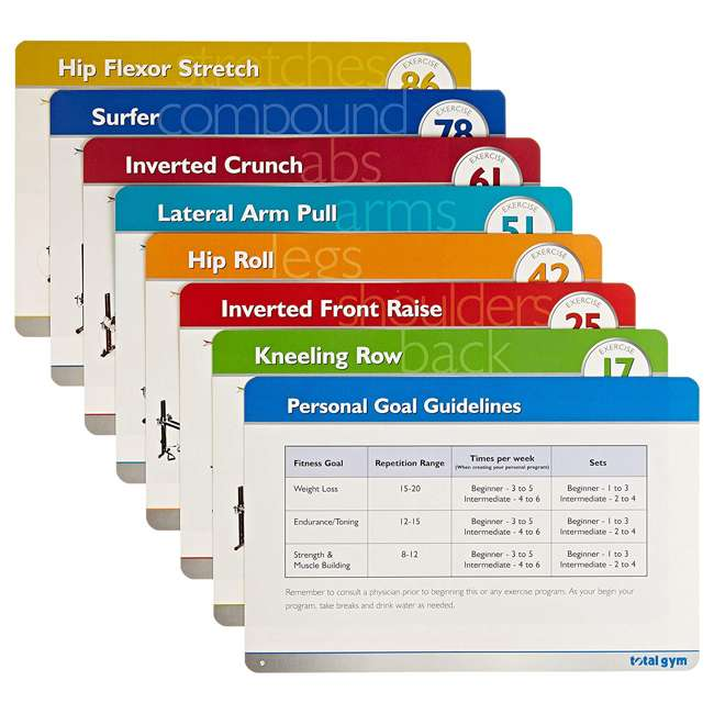 TDH Total Gym Personal Workout Training Cards and Case with 80 Total Body Exercises 1