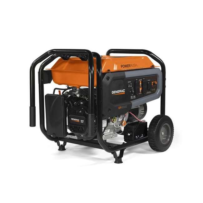 GNRC-7686 Generac GP8000E 8,000 Watt 420cc Electric Start Gas Powered Portable Generator 1