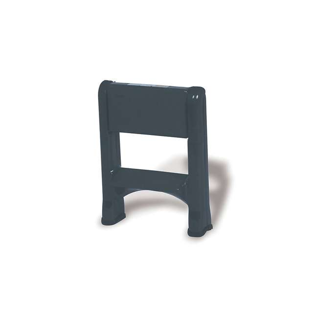 FG420903CYLND Rubbermaid 2 Step Slip Resistant Folding Plastic Stepstool with Foot Pads, Grey 2