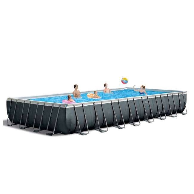 26373EH + 2 x 58868EP + 58821EP Intex 32ft x 16ft x 52in Pool Set with Floating Lounge (2 Pack) and Cooler Float 1