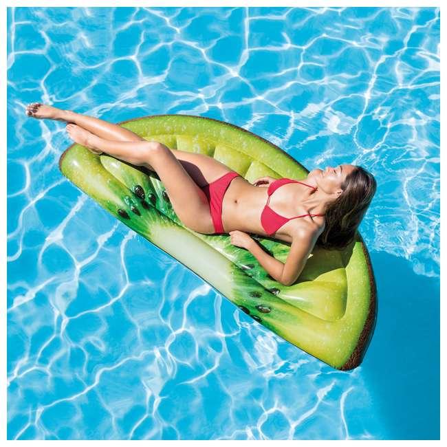 58764EP Intex Giant Inflatable 70-Inch Kiwi Slice Mat Float 1