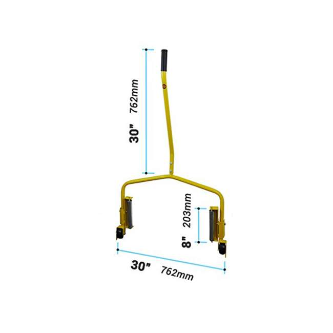 70130 Esco 70130 Truck Tire Heavy Duty Large Wheel Moving Smooth Roller Dolly, Yellow  2