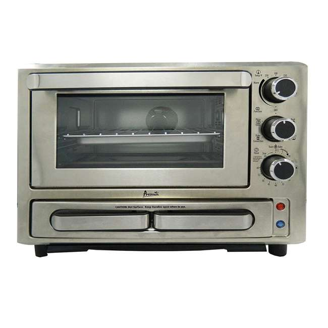PPO84X3S-IS Avanti 1000-Watt Stainless Steel Pizza Toaster Oven 3