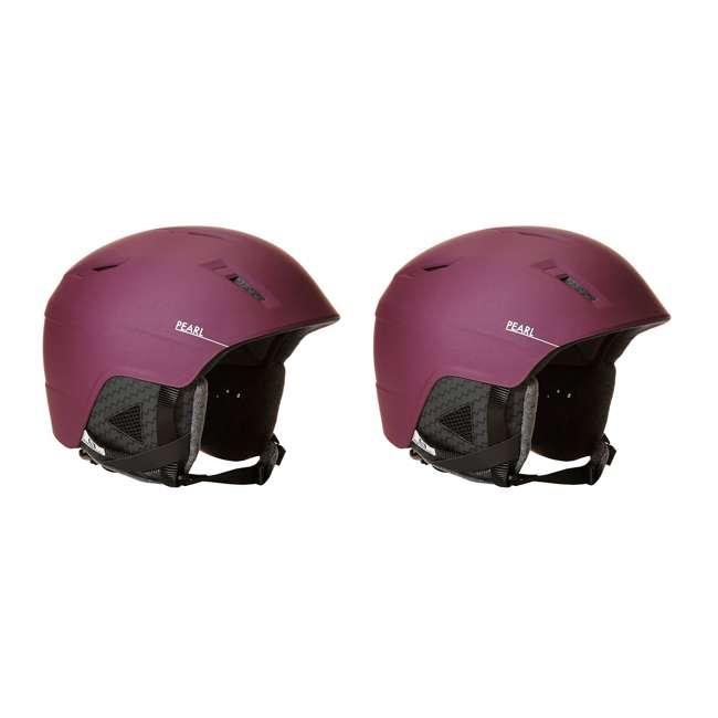 L39952200 - S Salomon Pearl2 Women Ski Snowboard Helmet Small, Red (2 Pack)