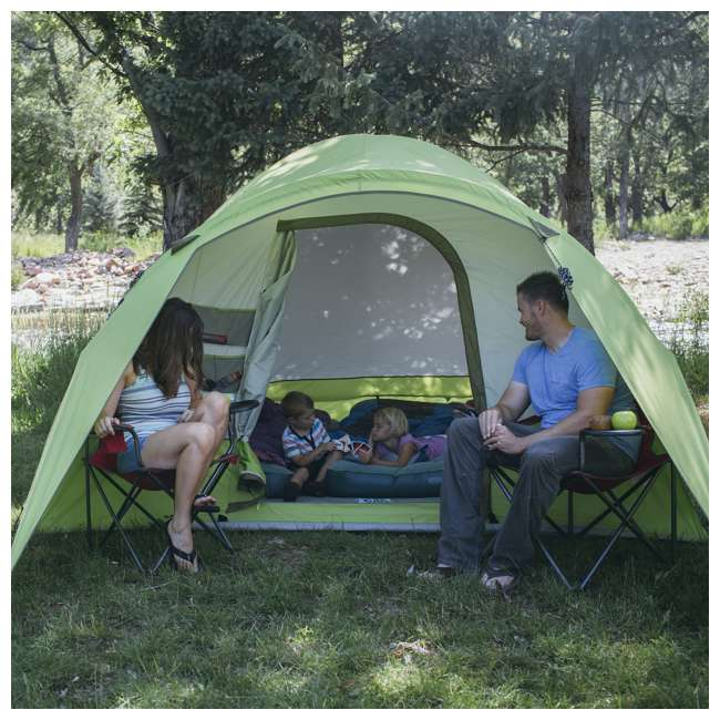 7362516 Wenzel 8-Person Portico Outdoor Family Camping Tent, Green (2 Pack) 5
