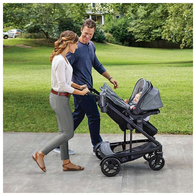 2032495 Graco UNO2DUO Baby Single Double Stroller & Infant Car Seat Travel System, Hazel 2