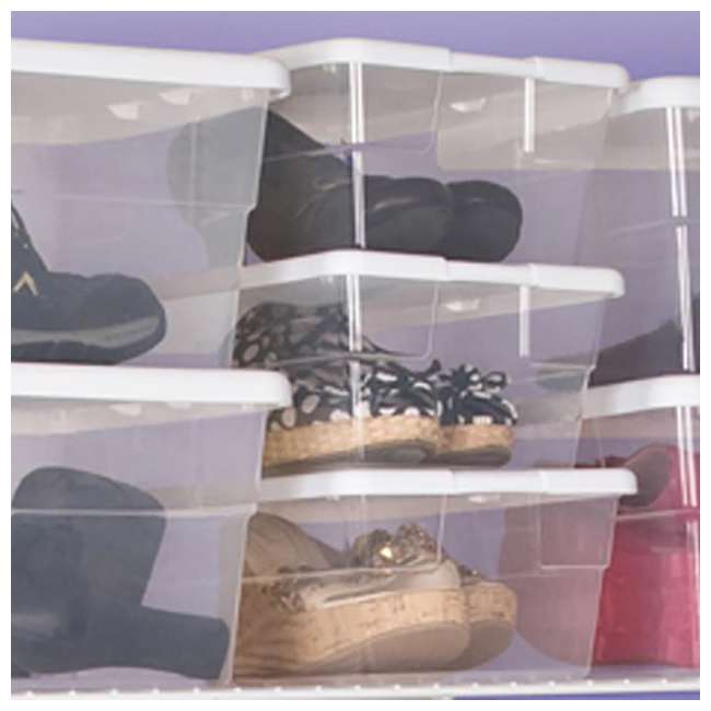 24 x 16428012 + 91824 Sterilite 6-Qt Box (24) Bundled with VELCRO® Brand Fastener Pads (200) 5