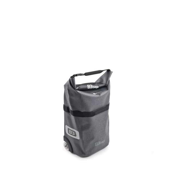 96400/grey B&W International B3 Luggage Bicycle Bag w/ Wheels and Telescoping Handle, Grey