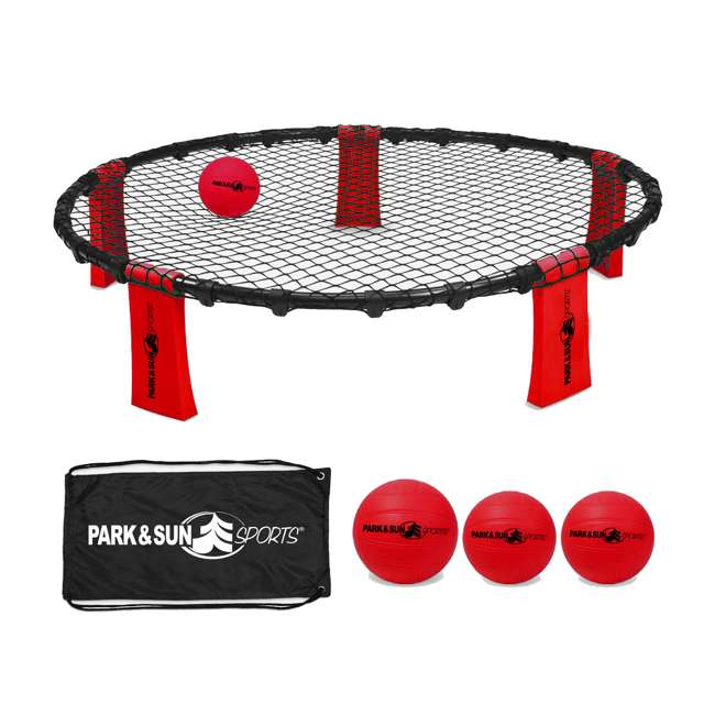 RALLY-FIRE Park & Sun Sports Rally Fire Portable Game Set, Red