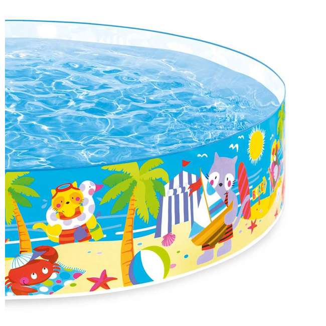 58457EP-U-A Intex Seahorse Kids 8 Foot Instant SnapSet Swimming Pool  (Open Box) (2 Pack) 3
