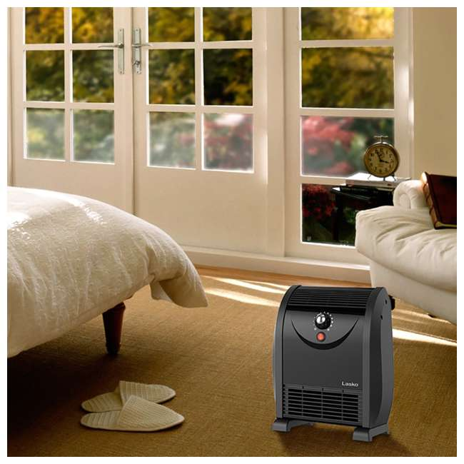 LKO-WC14812-TN Lasko WC14812 1500 Watt Portable Automatic Airflow Fan Forced Air Space Heater 3