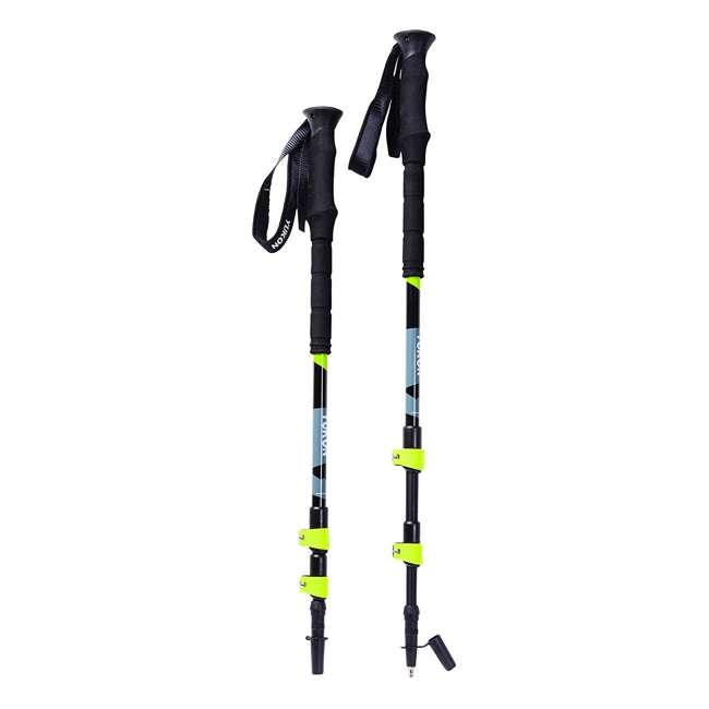 80-2009k Yukon Charlie's Pro Series Men's Snowshoe Kit w/ Poles and Bag, Black/Yellow 3