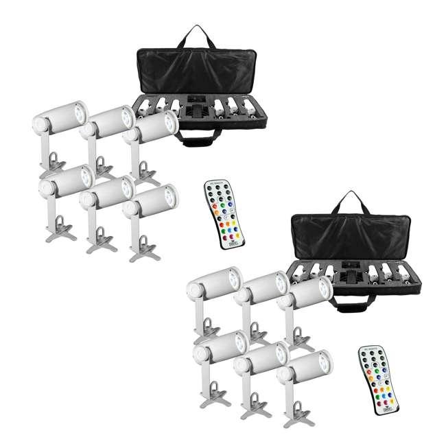CHAUVET EZpin IRC Pack LED DJ Pin Spot Lights w/ Case & Remote, 2-Pack